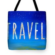 Travel Word Art Tote Bag
