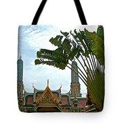 Traveler's Palm At Grand Palace Of Thailand In Bangkok Tote Bag