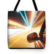 Traveling At Speed Of Light Tote Bag