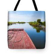 Traveling Through Tonle Sap Lake Tote Bag