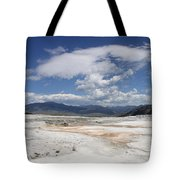 Travertine Hill Of Mammoth Hot Springs  Tote Bag