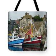 Trawlers In Honfleur Tote Bag