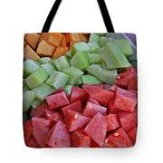 Tray Of Melon Chunks Art Prints Tote Bag
