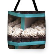 Trays Of Cupcakes Closeup Tote Bag