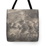 Tread On The Beach Tote Bag