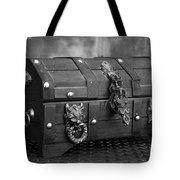 Treasure Chest In Black And White Tote Bag