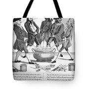 Treaty Of Paris Cartoon Tote Bag