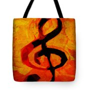Treble Distressed Tote Bag