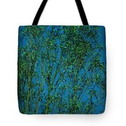 Tree Abstract Blue Green Tote Bag