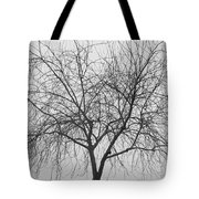 Tree Abstract In Black And White Tote Bag