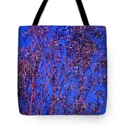 Tree Abstract Purple Blue  Tote Bag