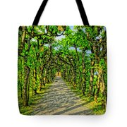 Tree Alley In Castle Park Tote Bag