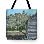 Tree And Building Tote Bag