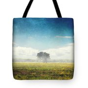 Tree And Meadow Tote Bag