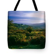 Tree And Plants On A Landscape Tote Bag