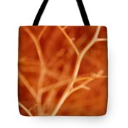 Tree Branches Abstract Orange Tote Bag
