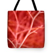 Tree Branches Abstract Red Tote Bag