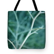 Tree Branches Abstract Teal Tote Bag