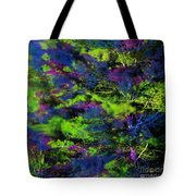 Tree Branches Lit With Abstract Colorful Projection Tote Bag