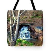 Tree By The Brook Tote Bag