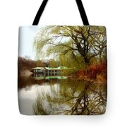 Tree By The River  Tote Bag by Mark Ashkenazi