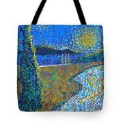 Tree By The Road Tote Bag