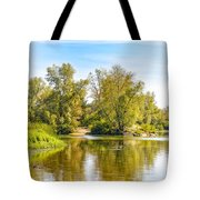 Tree Close To The River Tote Bag