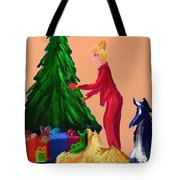 Tree Decorating Tote Bag