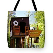 Tree House Boat 2 Tote Bag