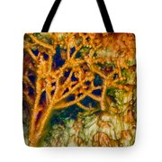 Tree In A Park Hot Springs Tote Bag