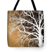 Tree In Abstract Tote Bag