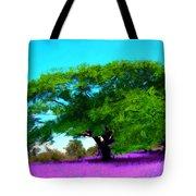 Tree In Lavender Tote Bag