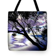 Tree In Silhouette Tote Bag