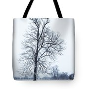 Tree In Snow Tote Bag