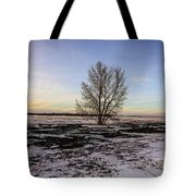 Tree In The Field Tote Bag