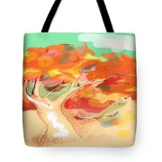 Tree In The Wind Tote Bag