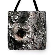 Tree Lichen Hole Tote Bag