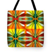 Tree Light Square Pattern Tote Bag