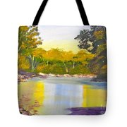 Tree Lined River Tote Bag