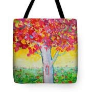 Tree Of Life In Spring Tote Bag by Ana Maria Edulescu