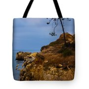Tree On A Cliff II Tote Bag