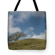 Tree On A Hill Tote Bag