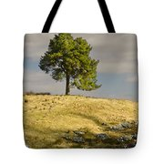 Tree On A Hill Vertical Tote Bag