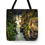 Tree On The Edge Of A Cliff Tote Bag