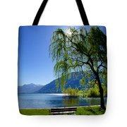 Tree On The Lakefront Tote Bag