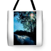 Tree Planted By Streams Of Water Tote Bag