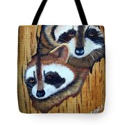 Tree Raccoons Tote Bag