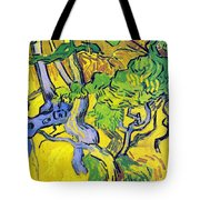 Tree Roots And Tree Trunks Tote Bag by Vincent Van Gogh