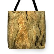Tree Self Reflections In Bark Tote Bag