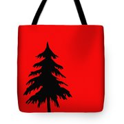Tree Silhouette On A Red Background 2 Tote Bag